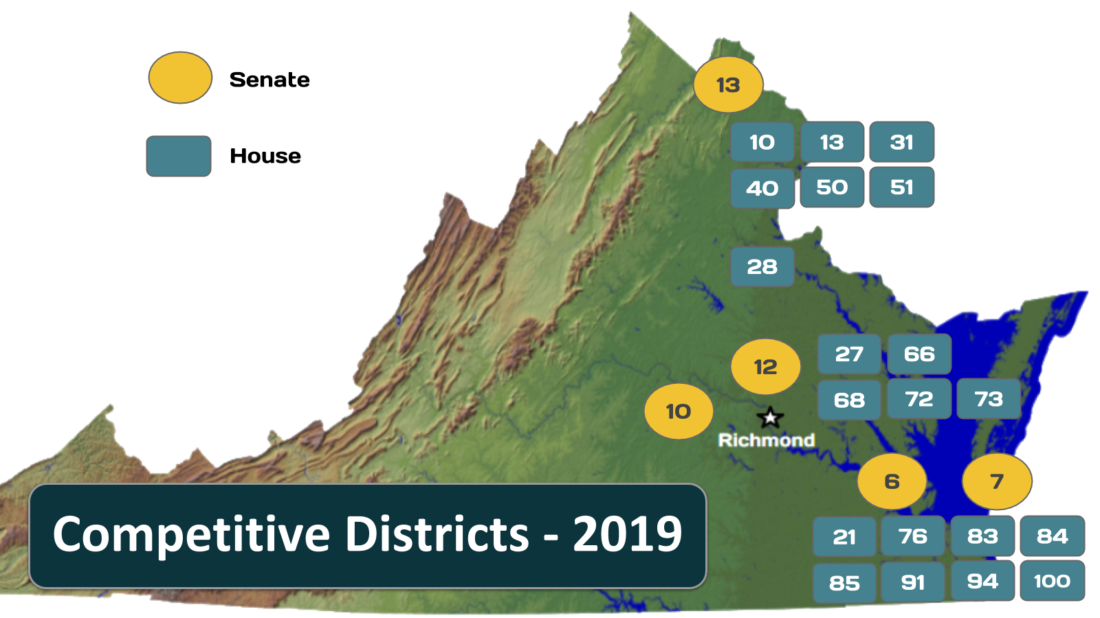 2019 Election: VA Competitive Districts